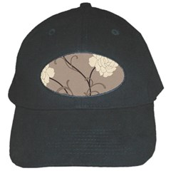 Flower Floral Black Grey Rose Black Cap