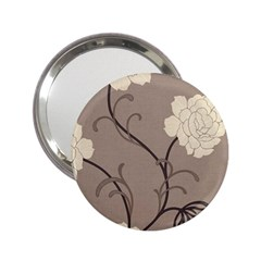 Flower Floral Black Grey Rose 2.25  Handbag Mirrors
