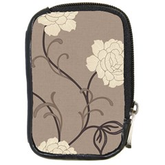 Flower Floral Black Grey Rose Compact Camera Cases