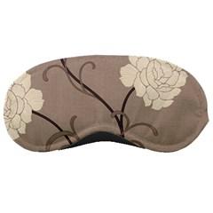 Flower Floral Black Grey Rose Sleeping Masks