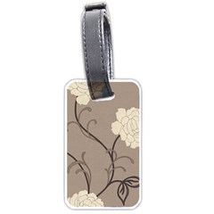 Flower Floral Black Grey Rose Luggage Tags (Two Sides)