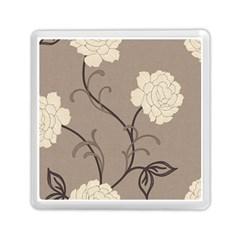 Flower Floral Black Grey Rose Memory Card Reader (Square)