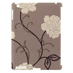 Flower Floral Black Grey Rose Apple iPad 3/4 Hardshell Case (Compatible with Smart Cover)
