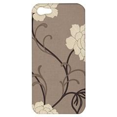 Flower Floral Black Grey Rose Apple iPhone 5 Hardshell Case