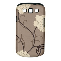 Flower Floral Black Grey Rose Samsung Galaxy S III Classic Hardshell Case (PC+Silicone)