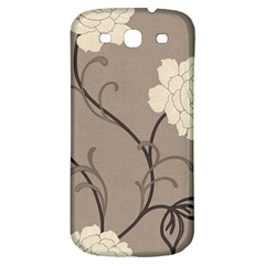 Flower Floral Black Grey Rose Samsung Galaxy S3 S III Classic Hardshell Back Case