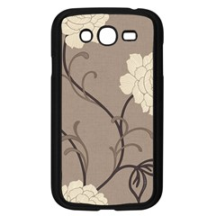 Flower Floral Black Grey Rose Samsung Galaxy Grand Duos I9082 Case (black)