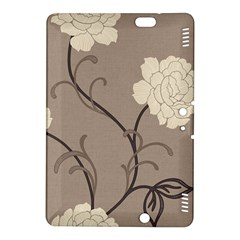 Flower Floral Black Grey Rose Kindle Fire HDX 8.9  Hardshell Case
