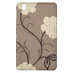 Flower Floral Black Grey Rose Samsung Galaxy Tab Pro 8.4 Hardshell Case