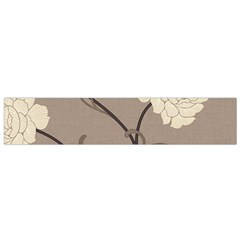 Flower Floral Black Grey Rose Flano Scarf (Small)