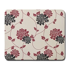 Flower Floral Black Pink Large Mousepads
