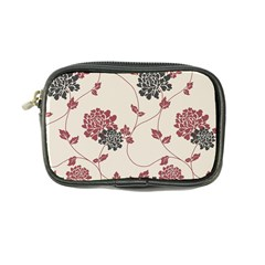 Flower Floral Black Pink Coin Purse