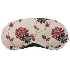 Flower Floral Black Pink Sleeping Masks