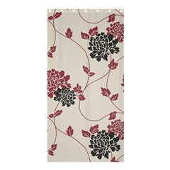 Flower Floral Black Pink Shower Curtain 36  x 72  (Stall)