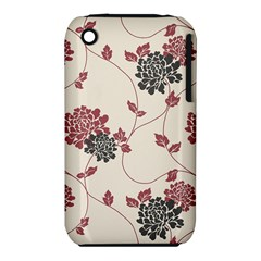Flower Floral Black Pink iPhone 3S/3GS
