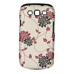 Flower Floral Black Pink Samsung Galaxy S III Classic Hardshell Case (PC+Silicone)