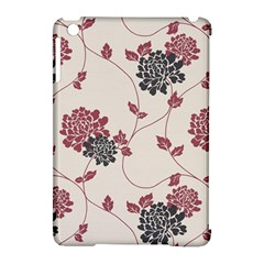 Flower Floral Black Pink Apple iPad Mini Hardshell Case (Compatible with Smart Cover)