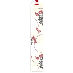 Flower Floral Black Pink Large Book Marks