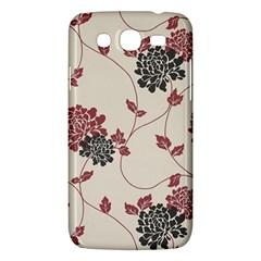 Flower Floral Black Pink Samsung Galaxy Mega 5.8 I9152 Hardshell Case