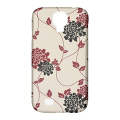 Flower Floral Black Pink Samsung Galaxy S4 Classic Hardshell Case (PC+Silicone)
