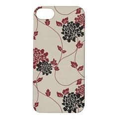 Flower Floral Black Pink Apple iPhone 5S/ SE Hardshell Case