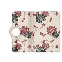 Flower Floral Black Pink Kindle Fire HDX 8.9  Flip 360 Case