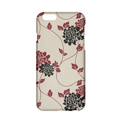 Flower Floral Black Pink Apple iPhone 6/6S Hardshell Case