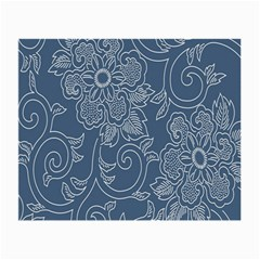 Flower Floral Blue Rose Star Small Glasses Cloth (2-Side)