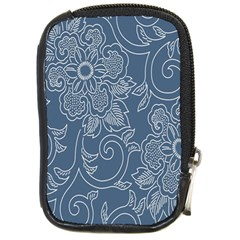 Flower Floral Blue Rose Star Compact Camera Cases