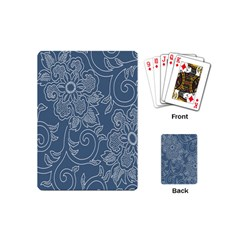 Flower Floral Blue Rose Star Playing Cards (Mini)
