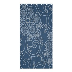 Flower Floral Blue Rose Star Shower Curtain 36  x 72  (Stall)