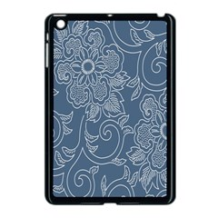 Flower Floral Blue Rose Star Apple iPad Mini Case (Black)