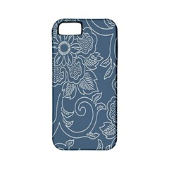 Flower Floral Blue Rose Star Apple iPhone 5 Classic Hardshell Case (PC+Silicone)