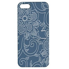 Flower Floral Blue Rose Star Apple iPhone 5 Hardshell Case with Stand