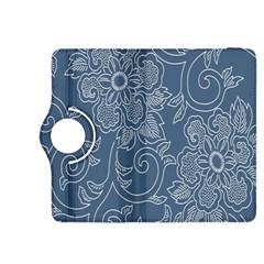 Flower Floral Blue Rose Star Kindle Fire HDX 8.9  Flip 360 Case