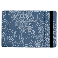 Flower Floral Blue Rose Star iPad Air Flip