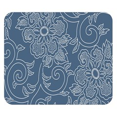 Flower Floral Blue Rose Star Double Sided Flano Blanket (Small)