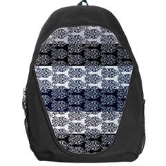 Digital Print Scrapbook Flower Leaf Colorgray Black Purple Blue Backpack Bag