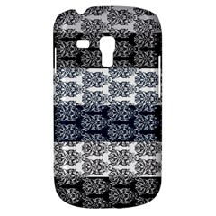 Digital Print Scrapbook Flower Leaf Colorgray Black Purple Blue Galaxy S3 Mini