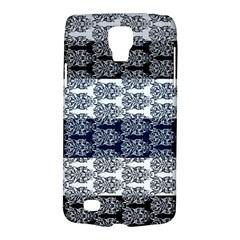 Digital Print Scrapbook Flower Leaf Colorgray Black Purple Blue Galaxy S4 Active