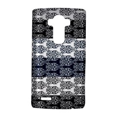 Digital Print Scrapbook Flower Leaf Colorgray Black Purple Blue LG G4 Hardshell Case