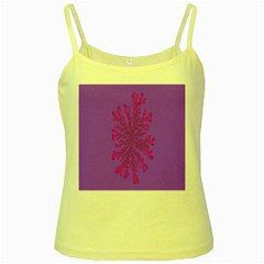 Dendron Diffusion Aggregation Flower Floral Leaf Red Purple Yellow Spaghetti Tank