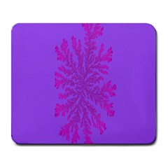 Dendron Diffusion Aggregation Flower Floral Leaf Red Purple Large Mousepads