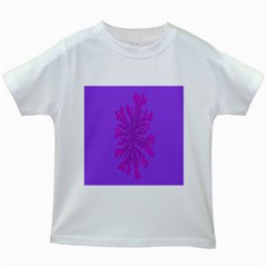 Dendron Diffusion Aggregation Flower Floral Leaf Red Purple Kids White T-Shirts