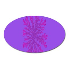 Dendron Diffusion Aggregation Flower Floral Leaf Red Purple Oval Magnet
