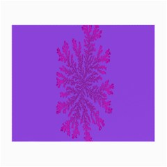 Dendron Diffusion Aggregation Flower Floral Leaf Red Purple Small Glasses Cloth
