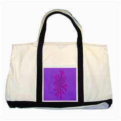 Dendron Diffusion Aggregation Flower Floral Leaf Red Purple Two Tone Tote Bag
