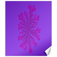 Dendron Diffusion Aggregation Flower Floral Leaf Red Purple Canvas 8  x 10