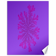 Dendron Diffusion Aggregation Flower Floral Leaf Red Purple Canvas 18  x 24