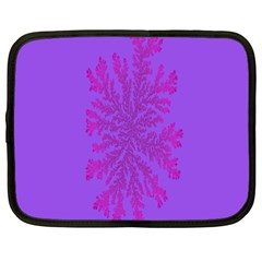 Dendron Diffusion Aggregation Flower Floral Leaf Red Purple Netbook Case (Large)